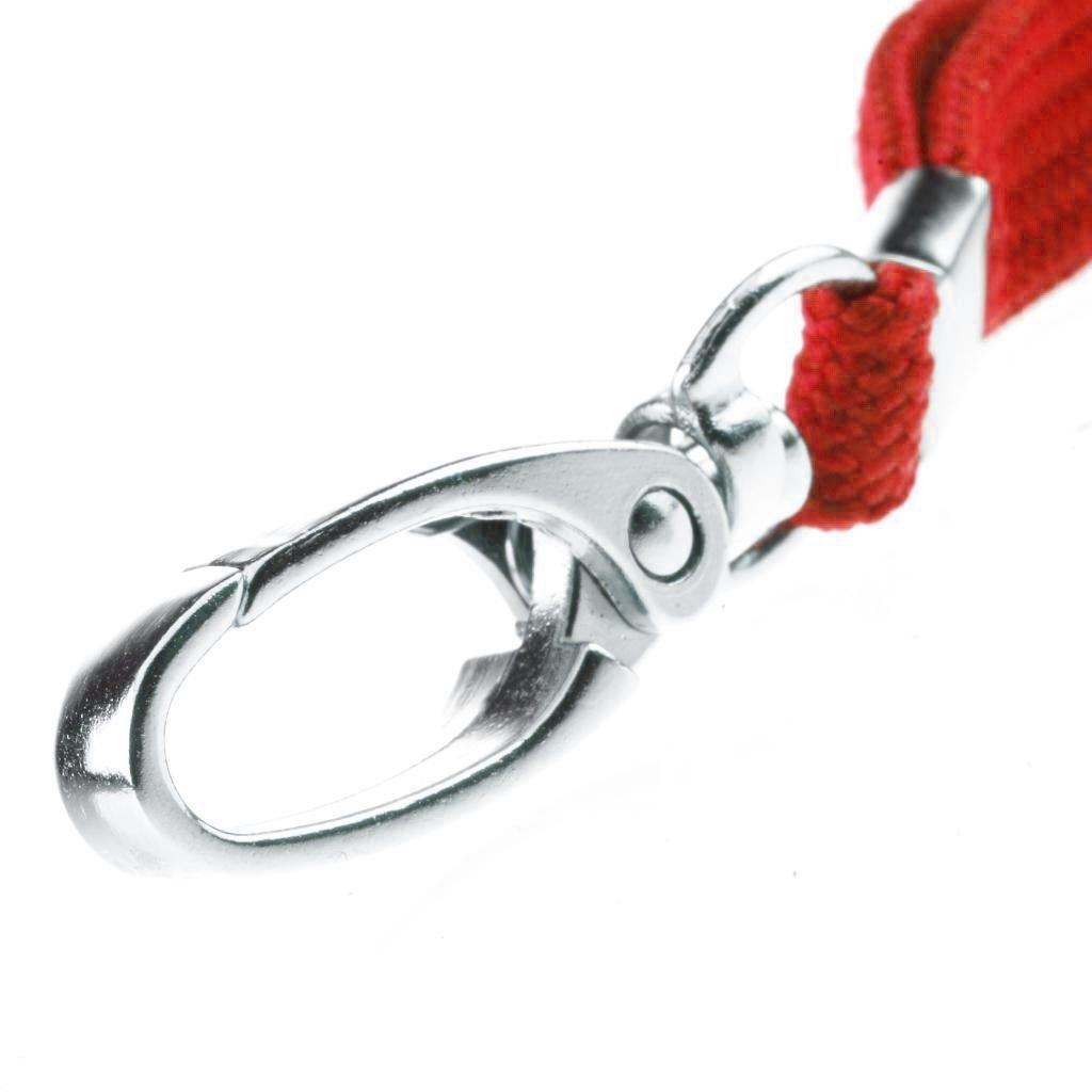 Nero CKB Ltd 10 cordini neri con moschettone per badge identificativi da portare al collo design a rilascio rapido