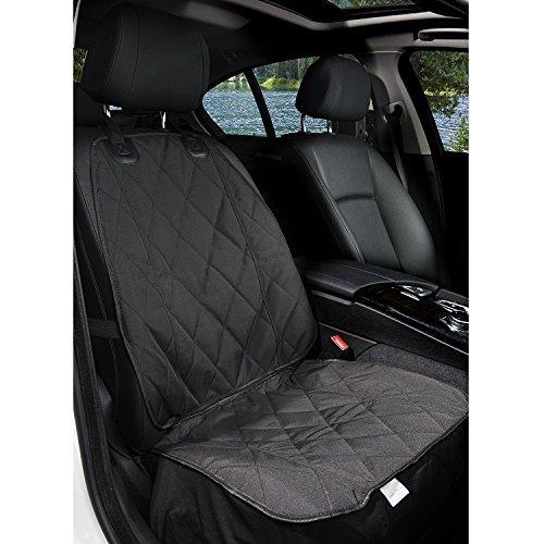 ZMG Waterproof Pet Seat Cover Non Slip Pet Bucket Seat Cover Dog Car Front Seat Cover Single Seat Cover for Dog Pet Seat Protector (Black) by ZMG