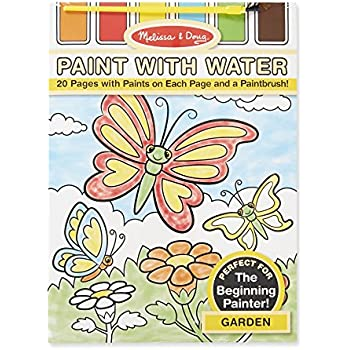 melissa doug paint with water activity set garden 20 pages