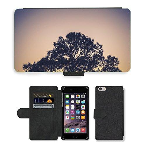 "PU Leather Cover Custodia per // M00421596 Plante Arbre Nature Environnement // Apple iPhone 6 4.7"""
