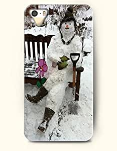 OOFIT iPhone 5 5s Case - A Snowman Relaxation On The Bench