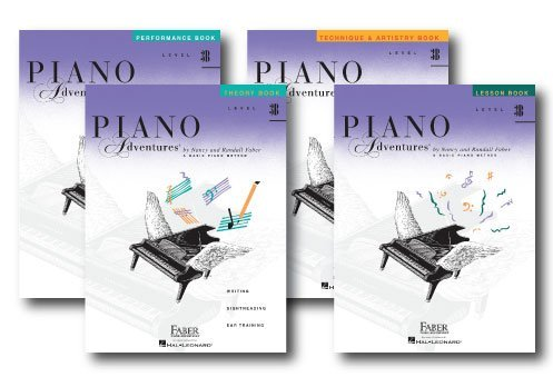 Faber Piano Adventures Level 3B Learning Library Pack Four Book Set - Lesson, Theory, Performance, and Technique & Artistry Books (Am Piano)