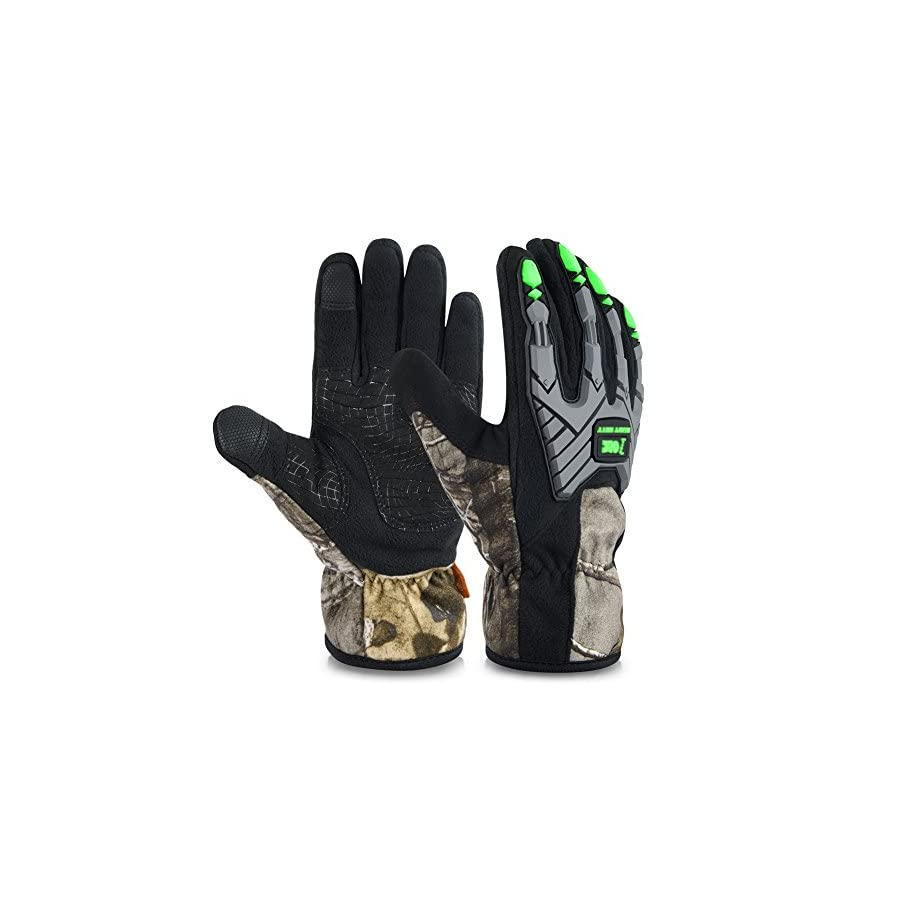 Vbiger Climbing Gloves Crag Gloves Outdoor Waterproof Touch Screen Warm Gloves In Camouflage
