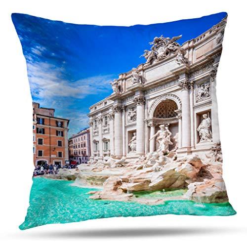 Kutita Sunshine Art Decorative Pillow Covers, Italy Famous and Italian City Italy Famous and Italian City Throw Pillow Decor Bedroom Livingroom Sofa 18X18 -