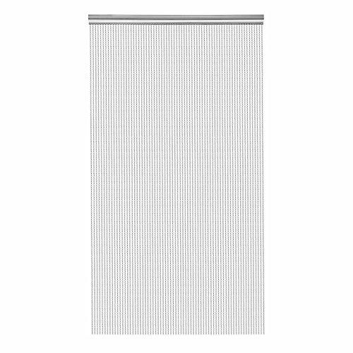 VEVOR Door Curtain Aluminum Chain Curtain 84×35 Inch Beaded Curtain Fly Pest Insect Door Screen Curtain Control (Aluminum Chain Curtain)