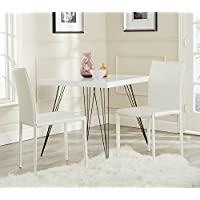 Safavieh Home Collection Karna Modern White Croc Dining Chair (Set of 2)