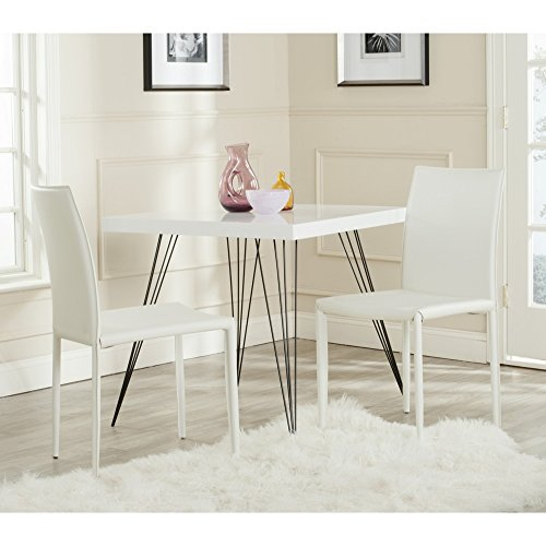 Safavieh Home Collection Karna Mid-Century White Croc Dining Chair (Set of 2)