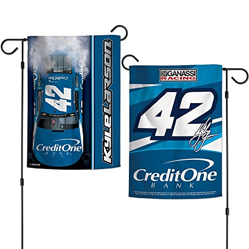 Nascar Garden Flag - Wincraft Kyle Larson 2018 Credit One Two Sided NASCAR Garden Flag
