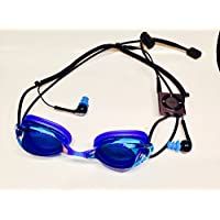 Blue Multi Sport Audio Goggles with Waterproof iPod Shuffle and Waterproof Earbuds