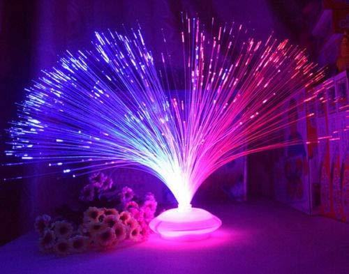 Flm fibra ottica lampada tavolo vintage arredamento cromoterapia