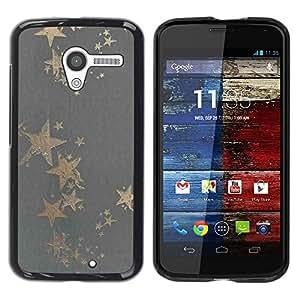 Be Good Phone Accessory // Dura Cáscara cubierta Protectora Caso Carcasa Funda de Protección para Motorola Moto X 1 1st GEN I XT1058 XT1053 XT1052 XT1056 XT1060 XT1055 // Gold Star