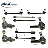 DLZ 10 Pcs Front Suspension Kit-Lower Ball Joint Inner Outer Tie Rod End Front Rear Sway Bar Compatible with 1996-2004 Nissan Pathfinder 1997-2003 Infiniti QX4 4WD ES3466 EV396 K80435 K90659 K90662