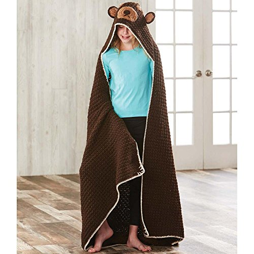 Herrschners® Huggy Bear Hooded Blanket Crochet Yarn Kit by Herrschners®