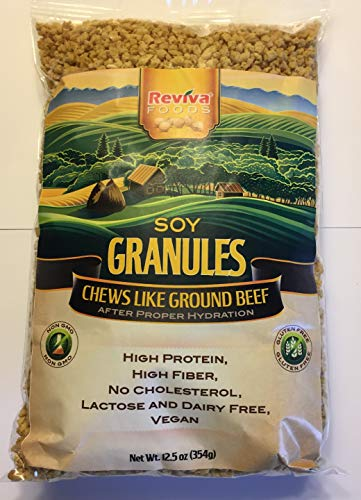 - Soy Granules (TVP) by Reviva Foods (Unflavored, 12.5oz)