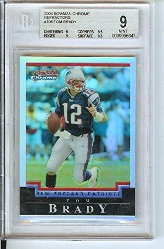 Football NFL 2004 Chrome Refractors #106 Tom Brady /500 Patriots by tom brady