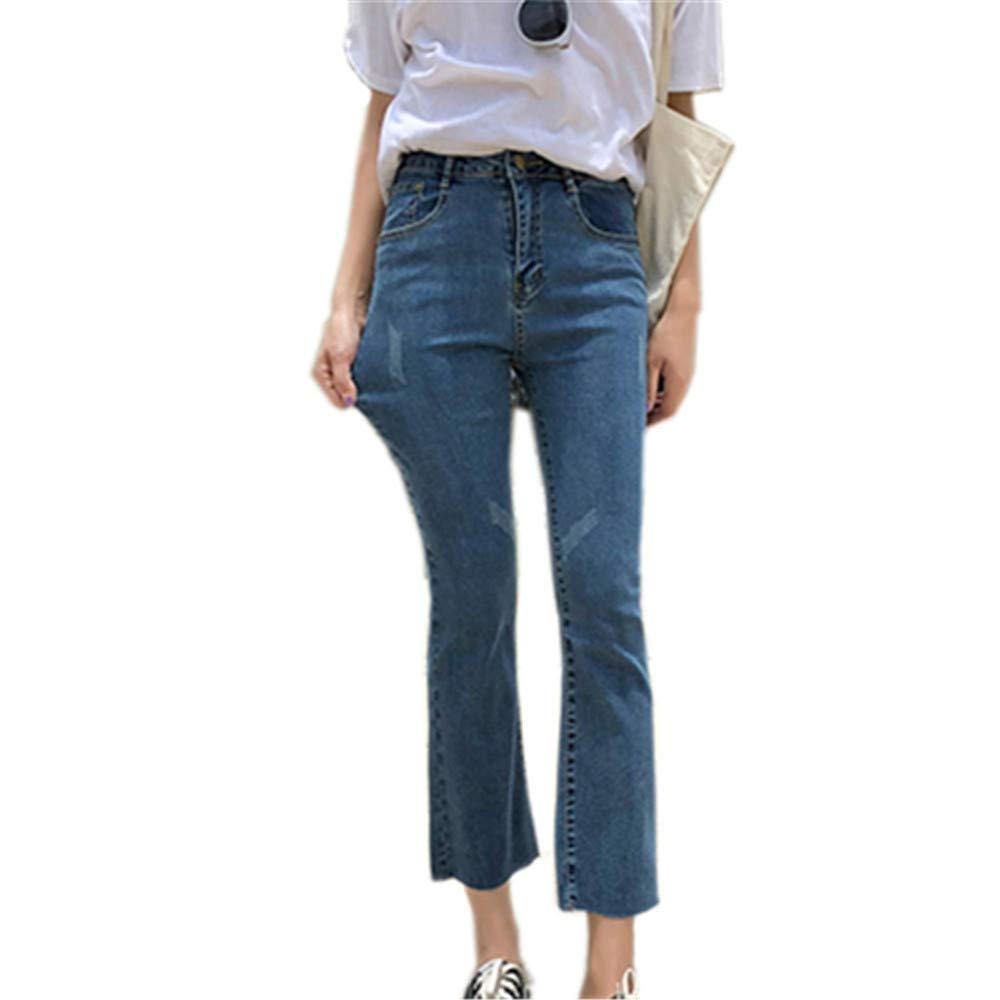 popular design wholesale price online shop Yehopere Women's Juniors Bell Bottom Flare Jeans Crop Casual ...