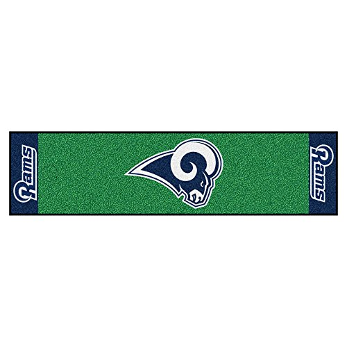 NFL Los Angeles Rams Putting Green Mat Golf Accessory by Unknown