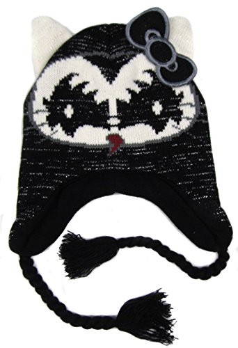 Hello Kitty Older Girls Kiss Peruvian Style Fleece Lined Hats Four Styles -