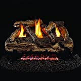 Cheap Peterson Real Fyre 20-inch Split Oak Log Set With Vent-free Natural Gas Ansi Certified G9 Burner – Variable Flame Remote