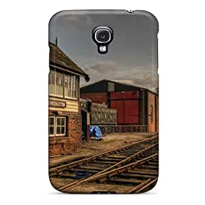 Anti-scratch Case Cover Phone Case Protective Autumn Free Train Station Case For Galaxy S4