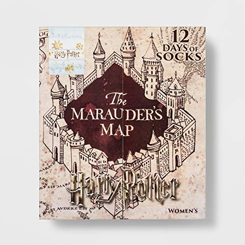 Marauder's Map 12 Days of Socks Harry Potter Advent Calendar