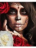 Raquel by Daniel Esparza Mexican Sexy Woman w Sugar Skull Mask Fine Art Print