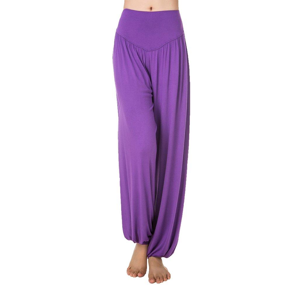 IKRR Pantaloni Vita Alta Harem Casuale Elastico per Yoga