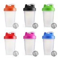 Timmil 400ml Protein Shaker Sports Water Shaker Bottle Cup + 1 Stainless Blender Mixing Ball For Gym Calisthenics Health Fitness (verde)