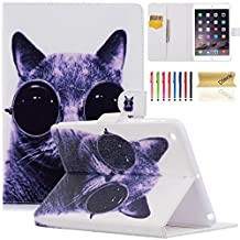 iPad Mini Case, Mini 2/3 Case, Dteck(TM) Colorful Painting Design PU Leather Magnet Case with Stand Wallet Cover for Apple iPad Mini 3/2/1 (Cool Cat)