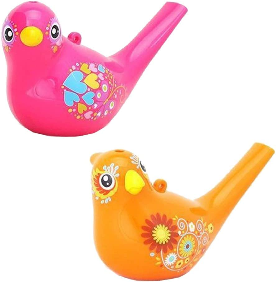 2 Piezas Silbato de Agua de P/ájaro Colorido para Ninos Aprendizaje TempranoRegalo Educativo para Ni/ños de Juguete de Instrumentos Musicales Ritte Silbato en P/ájaro