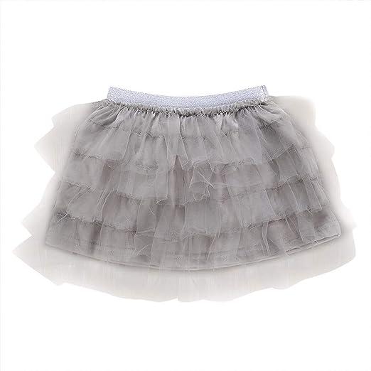 cnnIUHA Vestido de tutú para niñas, Falda de Ballet de Tul con ...