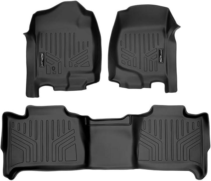 No Hybrid Models SMARTLINER Floor Mats 2 Row Liner Set Black for 2007-2014 Tahoe//Suburban//Yukon//Yukon XL//Denali