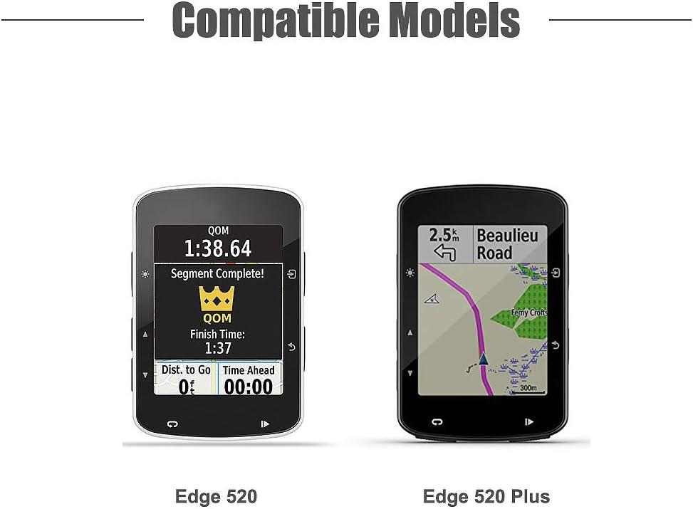 QQY Garmin 520 H/ülle Garmin Edge 520 Schutzh/ülle Silikon Case f/ür Garmin Edge 520 GPS Fahrradcomputer