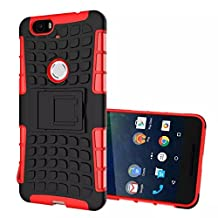 Nexus 6P Case, Topratesell Tough-tread Military Heavy Duty Dual Layer Rugged Protective Shockproof Case for Nexus 6P (Red)