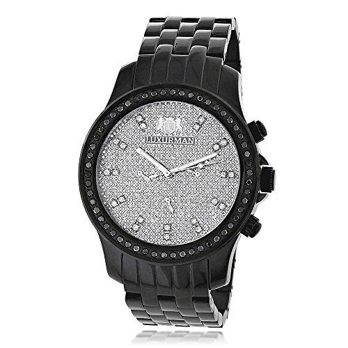 LUXURMAN Black Diamond Watch 2.25ct Mens