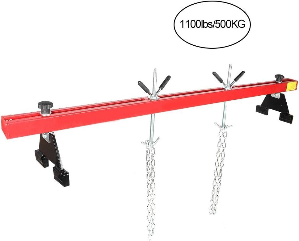 Capacit/é de Charge Maximale de 1100lbs Stabilisateur de Moteur Traverse de Moteur pour Voiture Atelier Garage Support de Moteur Suspension