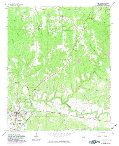 Burnetts Gin - YellowMaps Hamilton AL topo map, 1:24000 Scale, 7.5 X 7.5 Minute, Historical, 1967, Updated 1983, 27 x 22 in - Paper
