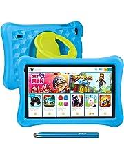10.1 tums surfplattor för barn AWOW Tablet PC för barn, Android 10 Go Quad Core, 2GB RAM 32GB Rom, KIDOZ förinstallerad med Kids-Proof case och Stylus Pen, Anti-blue Light Eye Protection, dubbel kamera, Föräldrakontroller (Blå)