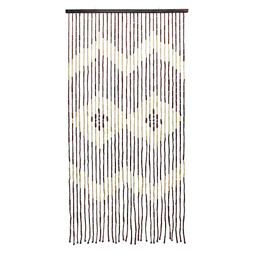90 NEW JVL PROVENCE HANGING WOODEN BEADED DOOR CURTAIN BEAUTIFUL MULTI-COLOUR