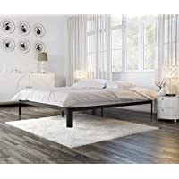 In Style Furnishings Modern  Lunar Metal Platform Bed Available in Twin, Full, Queen, King - Grey, Black, White -  (Black , Full)