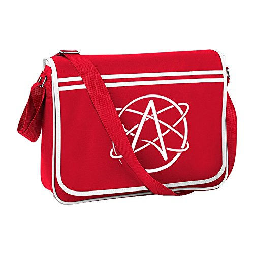 believer From SYMBOL Non Bag Shoulder FatCuckoo Red ATHEISM Logo Retro Atheist Messanger ztqdTg