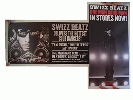 Amazon com : Swizz Beatz Poster One Man Band Man 2 Sided : Prints
