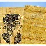 5 fogli di papiro egiziano originale, Pre-stampati Hieroglyphics carta