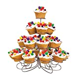 wilton cupcake stands - Wilton 307-826 Cupcakes 'n More 23 Count/4-Tier Metal Dessert Stand