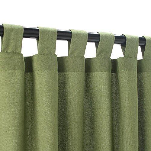 Sunbrella Outdoor Curtain with Tab Top - Cilantro, 50x120 by Sunbrella by Sunbrella