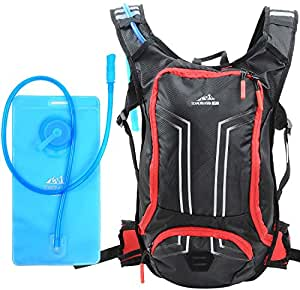 Hydration Pack With 70oz (2l) Bladder, Foldable Water Bottle & Cleaning Tablets - Perfect For Running, Hiking, Cycling