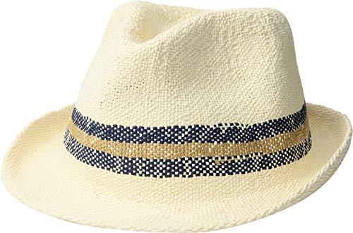 San Diego Hat Company Men's PBF7332 - Bangkok Paper Striped Fedora Ivory LG/XL