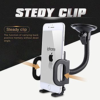 HoHoHoHot Car Phone Holder,Washable Strong Sticky Gel Pad with One-Touch Design Windshield and Dashboard Car Phone Mount for iPhone X/8/7/7Plus/6s/6, Galaxy S6/S7/S8, Huawei, LG, Nexus and More