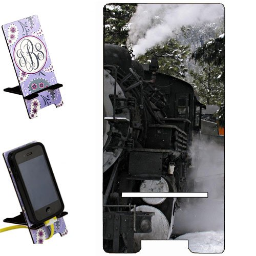 Train Locomotive scenic snow Smartphone image STAND / Holder for cell phones Great Gift Idea (Locomotive Telephone)