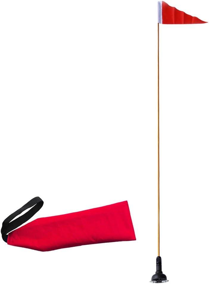 2 STÜCKE 1,2 Mt Sicherheit Flagge Basis Kit Mit Schienenmontage Basis Kanu